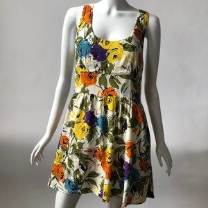 Abstract Floral Sundress - Size 8